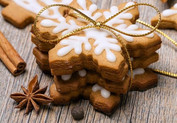 зимнее имбирное печенья