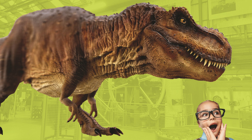 Dinosaurs seen roaming around Enginuity, near Ironbridge