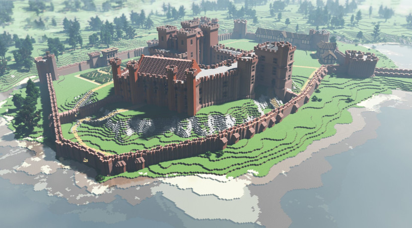 Kenilworth Castle rebuilt in Minecraft after standing in ruins for over 300 years