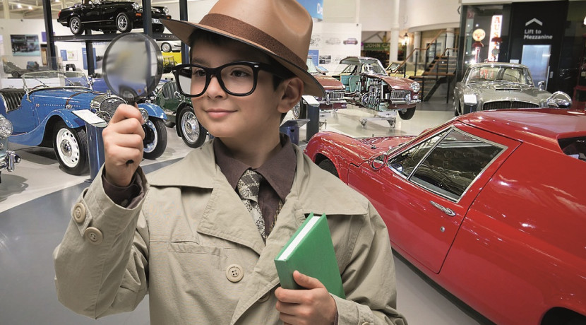 Calling all young detectives for half term fun at the British Motor Museum
