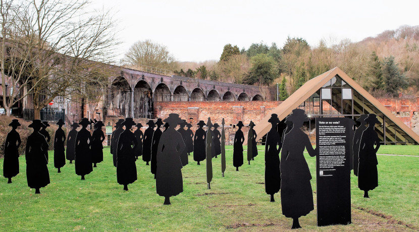 37 Life-sized silhouettes mark centenary of Women's right to vote