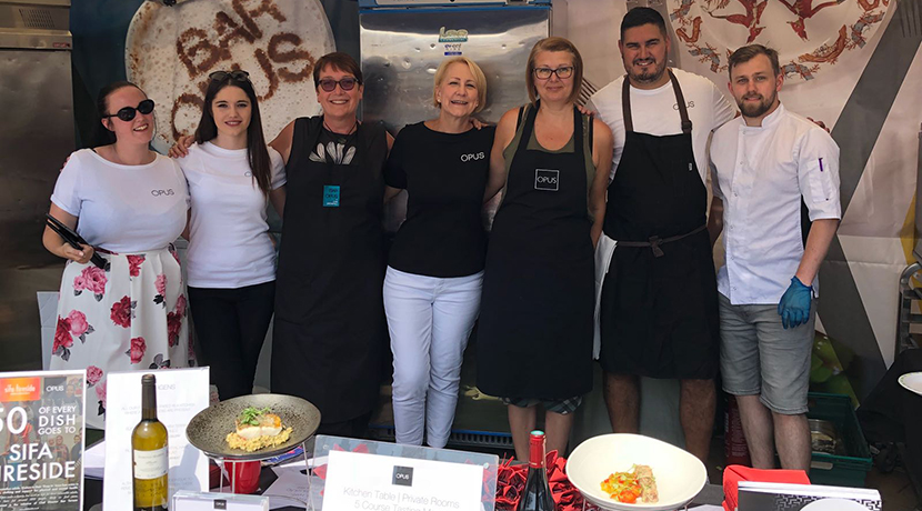 Opus donated 50p of every dish sold at Colmore Food Festival to Sifa Fireside