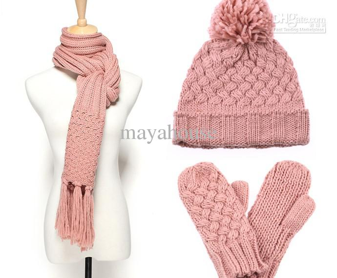 Pink hat scarf