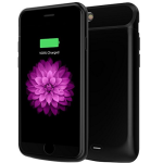 iPhone 6 Plus 6s Plus Battery Case, EUROB 7200mAh Portable Charger Case for iPhone 6 6s plus (5.5 inch) Extended Battery Juice Pack Charging Case with 200% Extra Battery for iphone 6 6s Plus(Black)