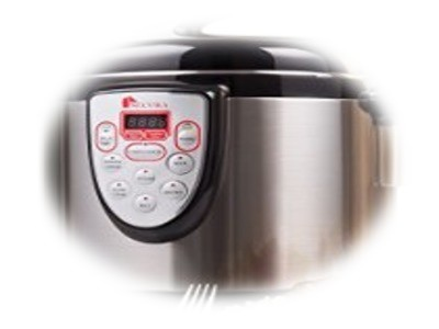 Secura 6-in-1 Programmable Electric Pressure Cooker 6qt, 18/10 Stainless Steel Cooking Pot