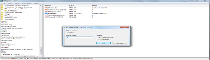 Windows Host Script Access Denied