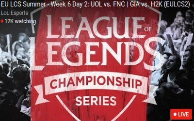 EU LCS Summer Week 6 Day 2