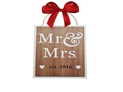 Mr and Mrs est 2016 Wedding Sign for BEST WEDDING GIFT IDEAS!!! (2016)