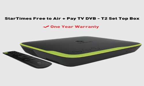 Startimes free to Airt decoder