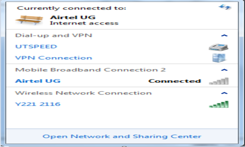 Service unavailable error Airtel Uganda Broadband
