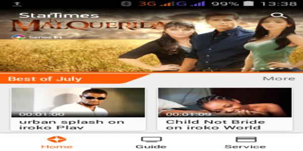 Startimesapp homepage