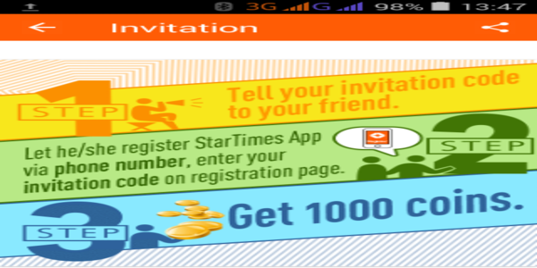 Invite and earn free credits on startimestv