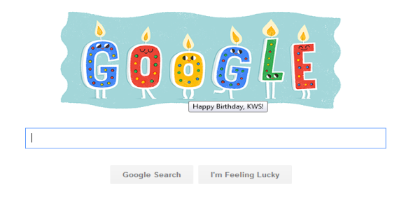 Google Homepage was personalized for my Birthday! Thank you