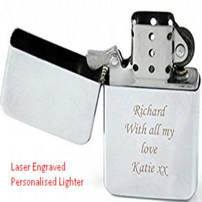 Laser Engraved Personalised Lighter