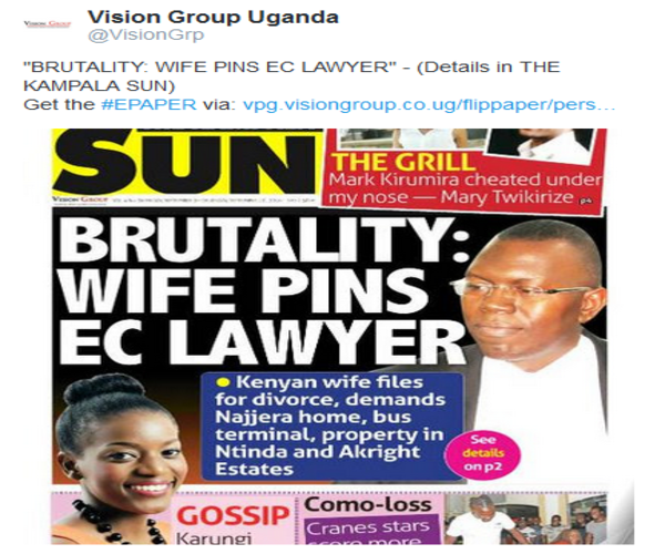 @VisionGrp about Brutality where Wife Pins Lawyer