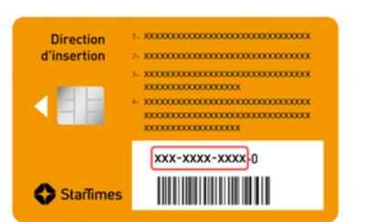 Startimes smart card number