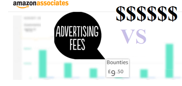 Amazon bounty vs advertsing fees