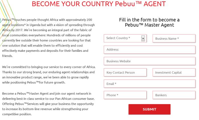 Become a Pebuu agent Sign up