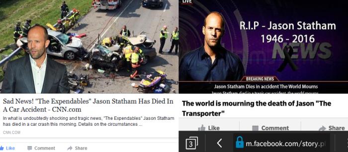 Jason Statham Dead 2016 Hoax