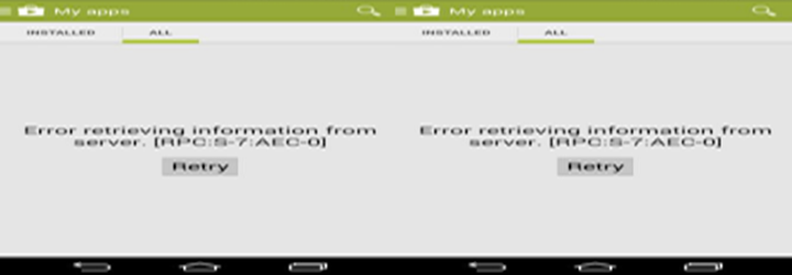 Error while retrieving information from server