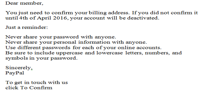 Confirm your billing address