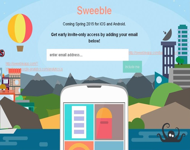 Sweeble App by Bubblews