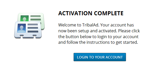 TribalAd Email Activation
