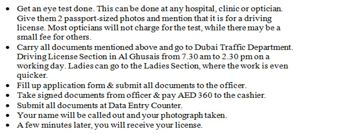 Foreign Driving Permit Exchange or Conversion In Dubai