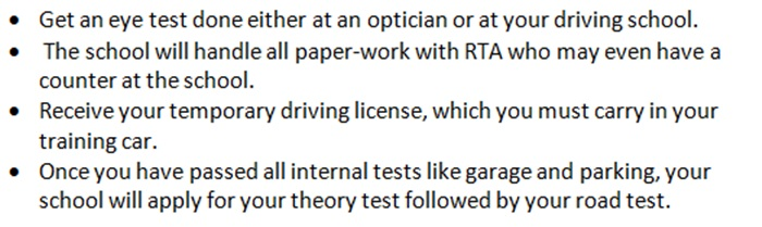 Dubai Driving Permit Application Form