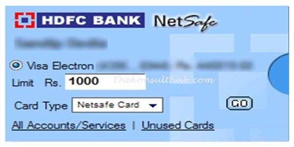 HDFC Free Netsafe VCC