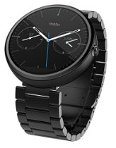Reviewed - Motorola Moto 360 Dark-Metal/Stone-Leather/Light-Metal/Black-Leather Smart Watch Comparison & Features