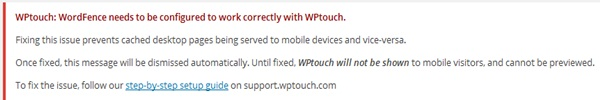 WPtouch and WordFence Activation Error Fixing