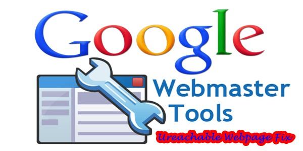 Google Wwebmaster Tools Webpage Unreachable