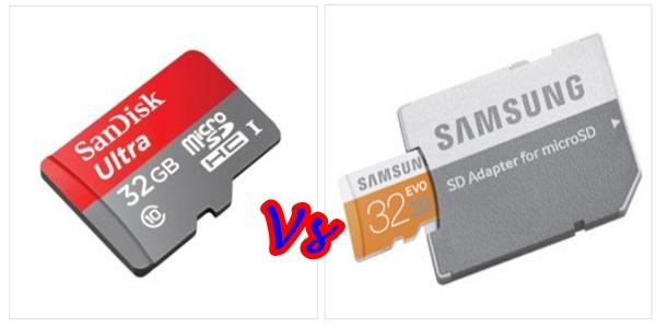 Samsung Vs SanDisk Micro Memory Cards