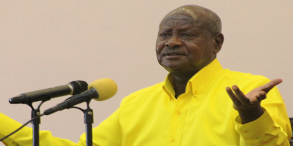 Museveni, Blessings and Pope Francis