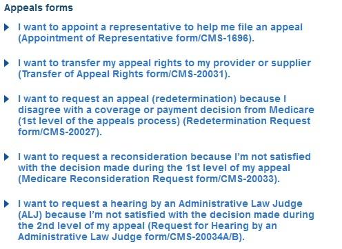 Download Medicare Appeal Forms