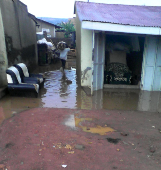 Kampala City Suburb Natete Flooded After Rainfall