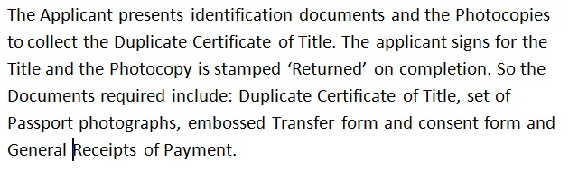 Dulicate Land Title Transfer Collection In Uganda