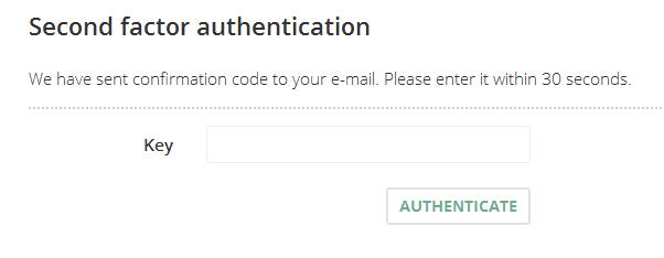 Second Factor Authentication