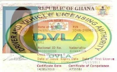 DVLA Drivers License Ghana