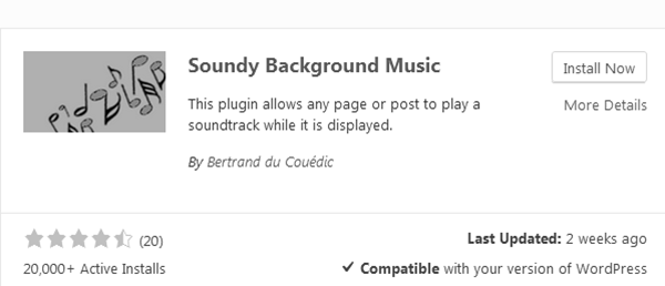 Soundy Background Music Plugin Download