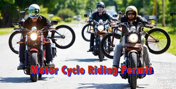 Motor Cycle Riding Permit URA
