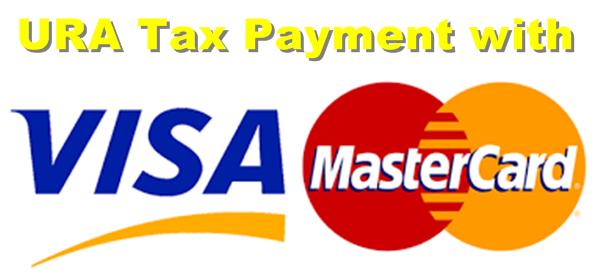 URA VISA MASTERCARD TAX PAYMENT