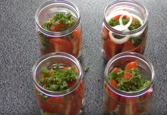 Рецепт лакомки из помидор на зиму пошаговый фото рецепт