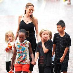 Джоли и питт с детьми фото 2016