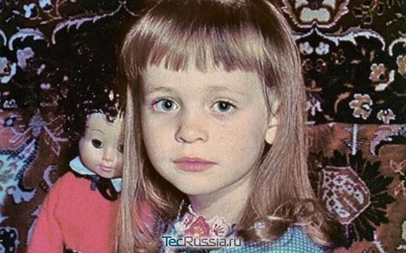 так выглядела Анна в детстве