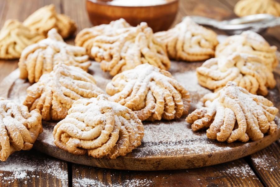 Песочное печенье через мясорубку хризантемы