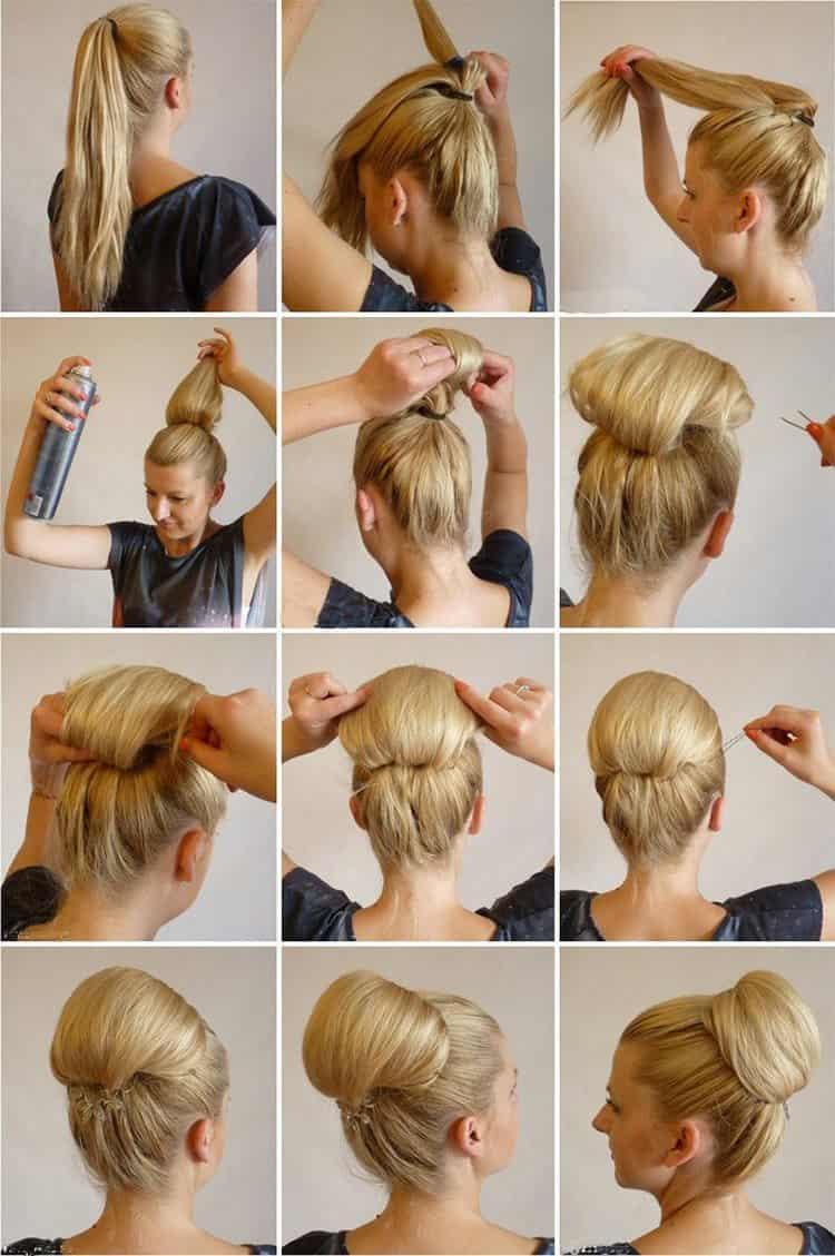 Если любите ретро-прически на волосы ниже плеч, обратите внимание на такой вариант.