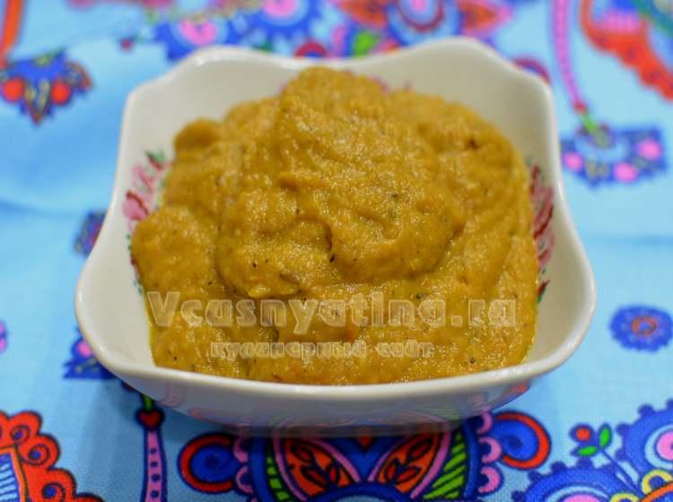 Овощная икра из баклажанов и кабачков рецепт с фото