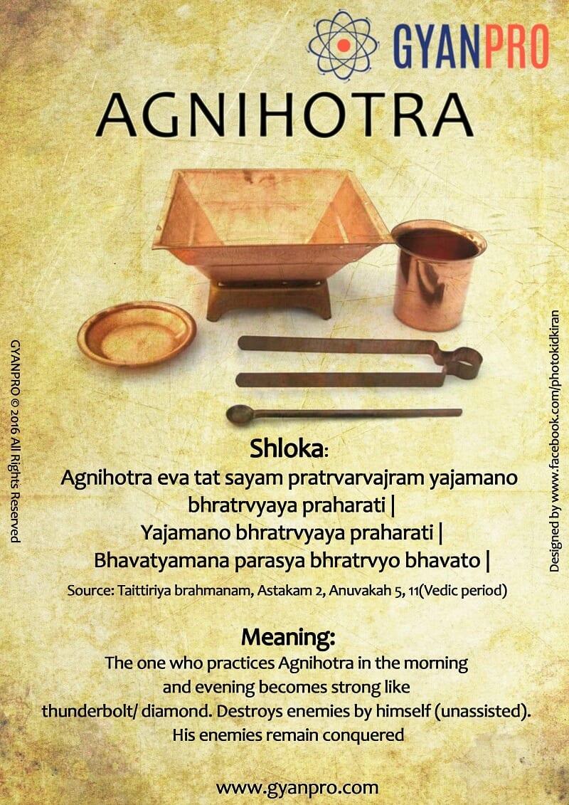 Info graphic agnihotra ritual in ancient india